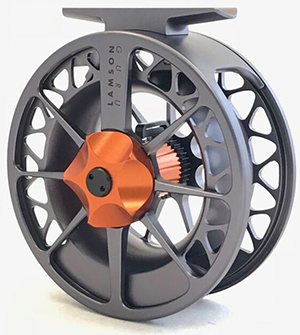 <font color=red>On Sale - Clearance</font><br>Lamson Guru II Grey/Orange Reel