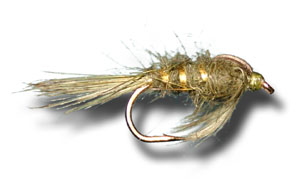 Hare's Ear Soft Hackle - Olive
