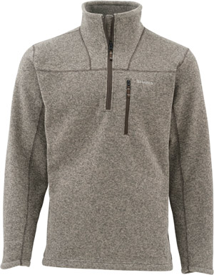 <font color=red>On Sale - Clearance</font><br>Simms Rivershed Sweater Quarter Zip - Bark