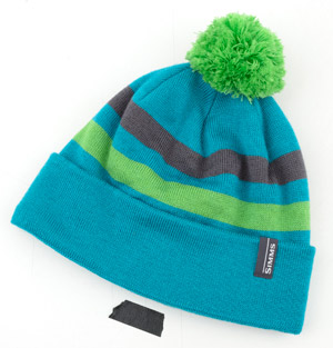 <font color=red>On Sale - Clearance</font><br>Simms Womens Fleece Lined Pom Hat - Lagoon