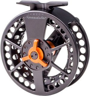 <font color=red>On Sale - Clearance</font><br>Lamson Speedster Black/Orange Reel