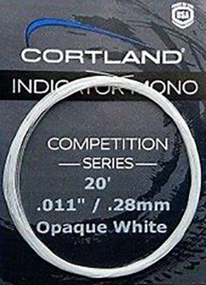 <font color=red>On Sale - Clearance</font><br>Cortland Indicator Mono - Competition Series - Opaque White