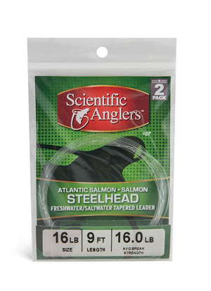 <font color=red>On Sale - Clearance</font><br>Scientific Anglers Steelhead / Salmon Tapered Leader w/ Loop - 2 Pack