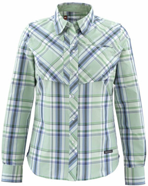 <font color=red>On Sale - Clearance</font><br>Simms Women's Big Sky LS Shirt - Celery