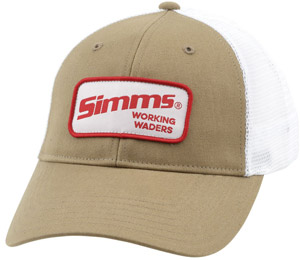 <font color=red>On Sale - Clearance</font><br>Simms Women's Patch Trucker - Working Waders Coffee