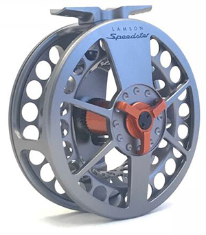 <font color=red>On Sale - Clearance</font><br>Lamson Speedster Grey/Orange Reel