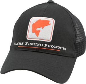 <font color=red>On Sale - Clearance</font><br>Simms Bass Trucker - Black