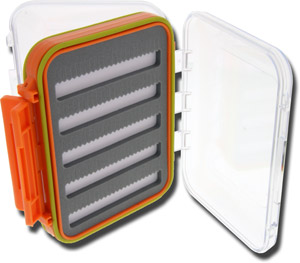 Clear-View V-Foam Fly Box - Small- Orange