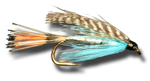Teal, Blue, and Silver Wet Fly