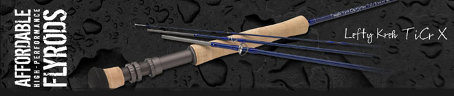 <font color=red>On Sale - Clearance</font><br>TFO Lefty Kreh TiCr X Series Fly Rods - 9' 6wt 4pc (TFO 06 90 4 TXlt)